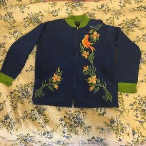 Bob Mackie Wearable Art Sweater Sz Small